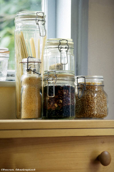 Dry Food in Jars