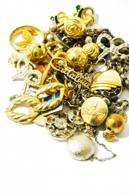 Tangle of Gold and Costume Jewelry