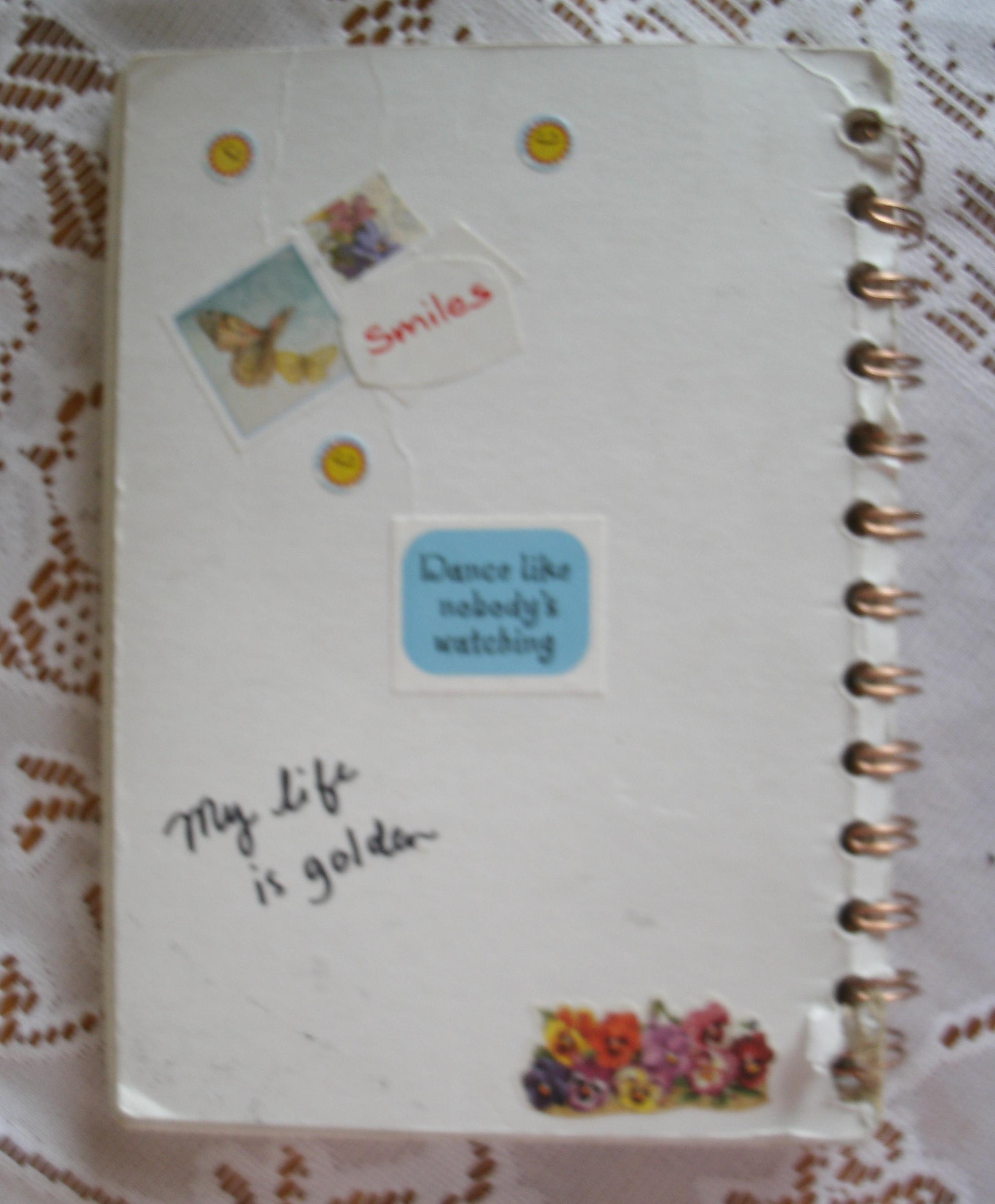 Back Side of Gratitude Journal