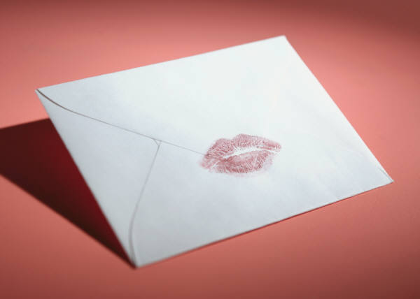 Letter with a kiss