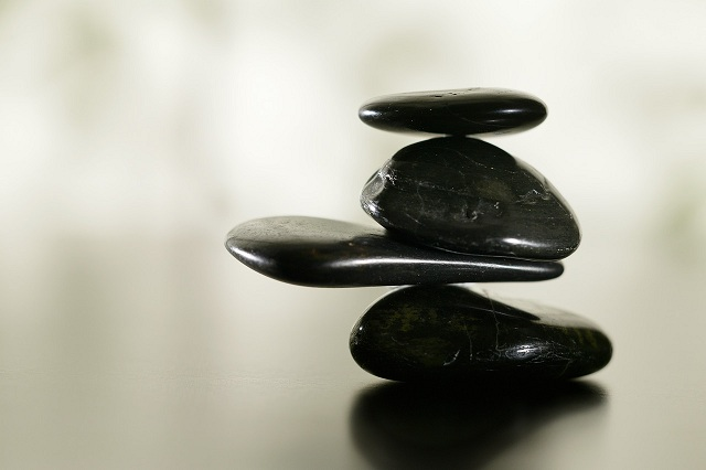 Stack of smooth stones