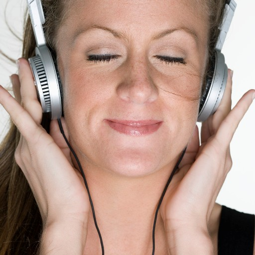 Woman Listening to Music - Find Joy!