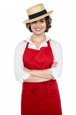 Woman in Bakers Apron